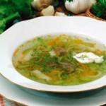 Суп грибной 150x150 Суп с сухими грибами и овсяными хлопьями