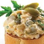 yichnyi salat s olivkami 150x150 Салат яичный с оливками и огурцами