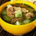 Sup so svinyimi rebryishkami i kartofelem 150x150 Суп со свиными ребрышками и картофелем