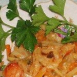 Salat iz ryibyi morskoy s morkovyu i zelenyu 150x150 Салат из рыбы морской с морковью и зеленью