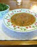 Sup s zelenyu i orehami Суп с зеленью и орехами