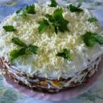 Tort pechenochnyiy s plavlennyim syirom 150x150 Торт печеночный с плавленым сыром