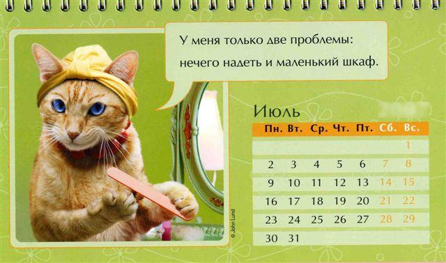 Iyul kazhdogo goda Праздничный календарь на каждый год (шуточный)
