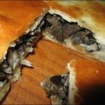 Pirog s solenyimi gribami iz drozhzhevogo postnogo testa 150x150 Пирог с солеными грибами из дрожжевого постного теста