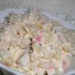 E`kzoticheskiy salat s ananasami i syirom 150x150 Экзотический салат с ананасами и сыром