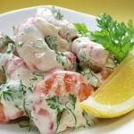 Krevetochnyiy salat s yablokom 150x150 Креветочный салат с яблоком