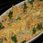 Salatik iz serdtsa s morkovyu i lukom 150x150 Салатик из сердца с морковью и луком