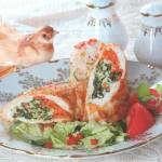 Kurinyie ruletiki so shpinatom morkovyu i syirom 150x150 Куриные рулетики со шпинатом, морковью и сыром
