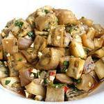Salat baklazhanovyiy s chesnokom i soevyim sousom 150x150 Салат баклажановый с чесноком и соевым соусом
