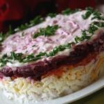 Salat prazdnichnyiy sloenyiy General 150x150 Салат праздничный слоеный Генерал