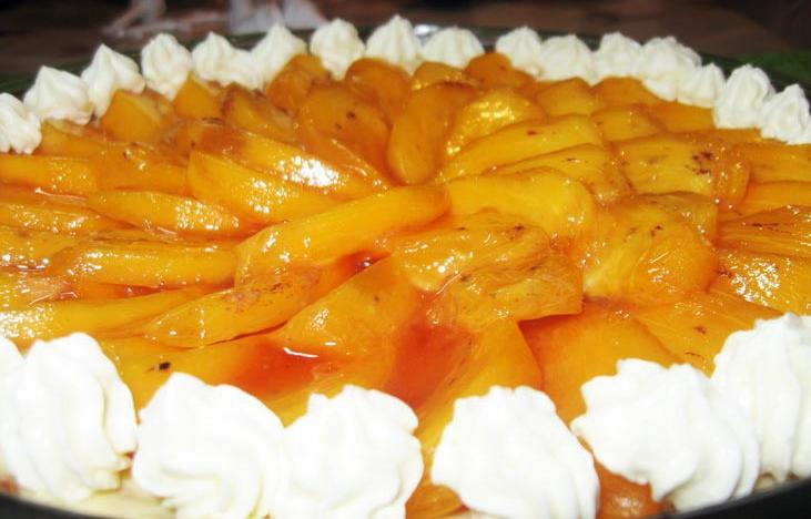Tort pesochnyiy iz morozhenogo s hurmoy Апельсиновый шербет