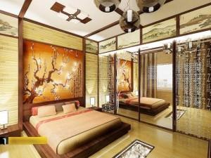 Spalnya v vostochnom stile 300x225 Спальня в восточном стиле