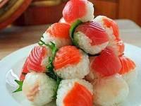Piramida iz temari     sushi Удивительные суши и роллы дома