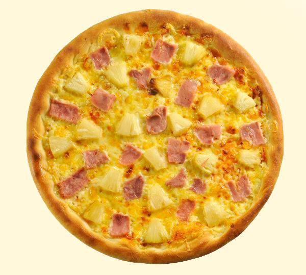 Gavayskaya pitstsa s ananasami i vetchinoy Пицца на дрожжах домашняя с сыром и колбасой