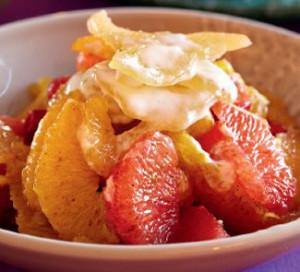Salat TSitrusovyiy ray 300x272 Салаты цитрусо фруктовые для года Козы