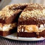 Tort Novogodniy snikers 150x150 Лимонно миндальный торт