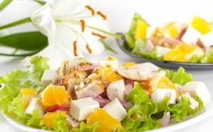 Salat Feeriya s apelsinami Костромской салат с солеными груздями