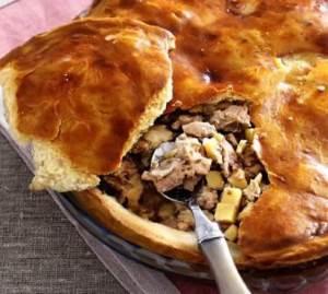 Pirog iz kartoshki s govyadinoy gusem i kuritsey Кулебяки и пироги с разными начинками