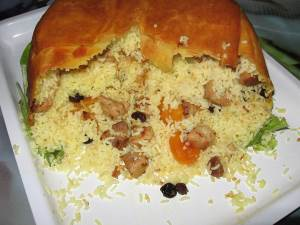 SHah plov s baraninoy Баранина со сливами, грецкими орехами