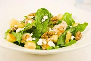 Salat iz grushi i kurochki Салат слоями с грибами Ромашка