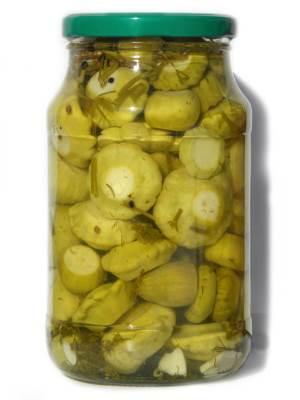 Marinovannyie belyie zheltyie patissonyi Маринованные белые (желтые) патиссоны