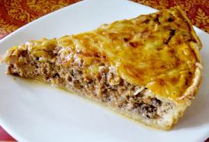 Pirog na kefirnom teste s nachinkoy iz myasa Блинное тесто дрожжевое