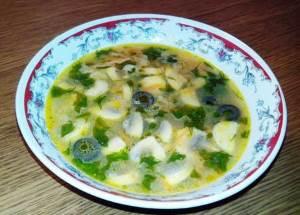 Gerkulesovyiy sup iz midiy i morkovki Геркулесовый суп из мидий и морковки