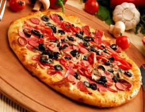 Pitstsa so vkusom salsyi Пицца со вкусом сальсы