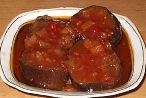Baklazhanyi v tomate zimnie s raznyimi ovoshhami Баклажаны в томате зимние с разными овощами