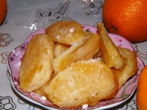 Apelsinyi v klyare s limonnyim siropom Абрикосовый десерт по немецки