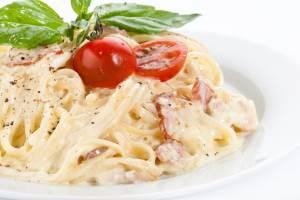 Spagetti s bekonom   Karbonara   Запеканка из баклажан с беконом