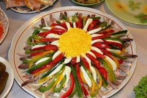 "Salat   Feyerverk    Салат ""Белые розы"""