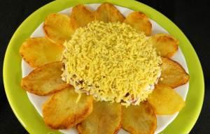 Zakuska kartofelnaya Romashka Закуска золотистая картофельная Ромашка