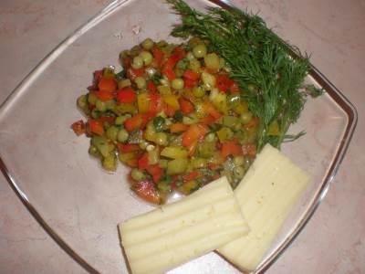 Ovoshhnoy salat   Biser   Салат Нептун с Фризе
