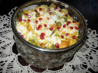 Salat   Fruktyi v tvoroge   Салат «Фрукты в твороге»