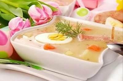 Zurek pashalnyiy sup po polski Зурек   пасхальный суп по польски