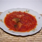 Borshh iz trepangi 150x150 Картофель, тушенный с огурцами и помидорами
