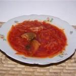 Borshh iz trepangi 150x150 Грибной борщ с черносливом