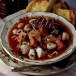 Borshhi ryibnyie i s moreproduktami 150x150 Солянки с мясом или птицей, рыбой или морепродуктами, с грибами и овощами