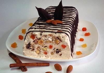 Pasha morozhenoe s orehami i tsukatami Пасха   мороженое с орехами и цукатами