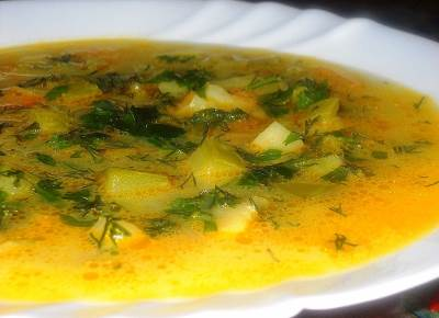 Legkiy sup iz kabachka Легкий суп из кабачка