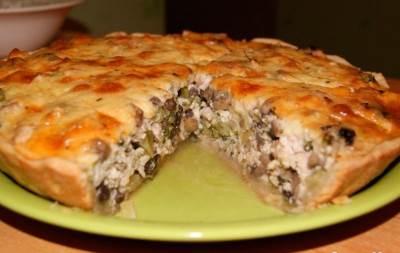 Слоеные пирожки с курицей и грибами рецепт