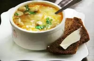 Sup iz razlichnyih vidov krup i gribov Суп ассорти из двух видов круп и грибов
