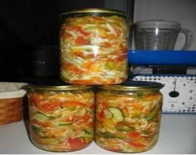 Salat ovoshhnoy na zimu Generalskiy Салат овощной на зиму Генеральский