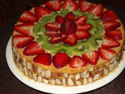 Fruktovo yagodnyiy tort    Strelyi Amura   Фруктово ягодный торт « Стрелы Амура»