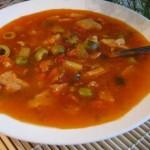 Solyanka v skovorode iz ryibki 150x150 Лепешки с мясом, овощами и сыром к завтраку