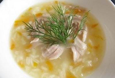 Gustoy kurino risovyiy sup dlya detey Густой курино рисовый суп для детей