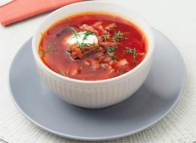 Krasnyiy myasnoy borshh s gribami Красный мясной борщ с грибами