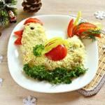 Salat   Petushok na Novyiy god   150x150 Заливная сельдь под шубкой
