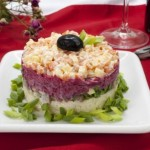 Salat dlya muzhchin   Navazhdenie   150x150 Салат с ветчиной слоями «Орхидея»